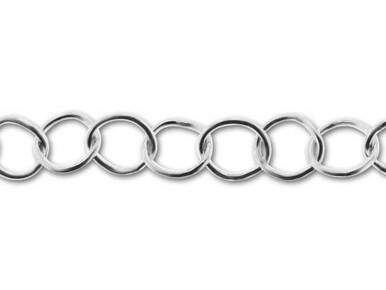 Oval Link Extension Chain With Ball Sterling Silver 2