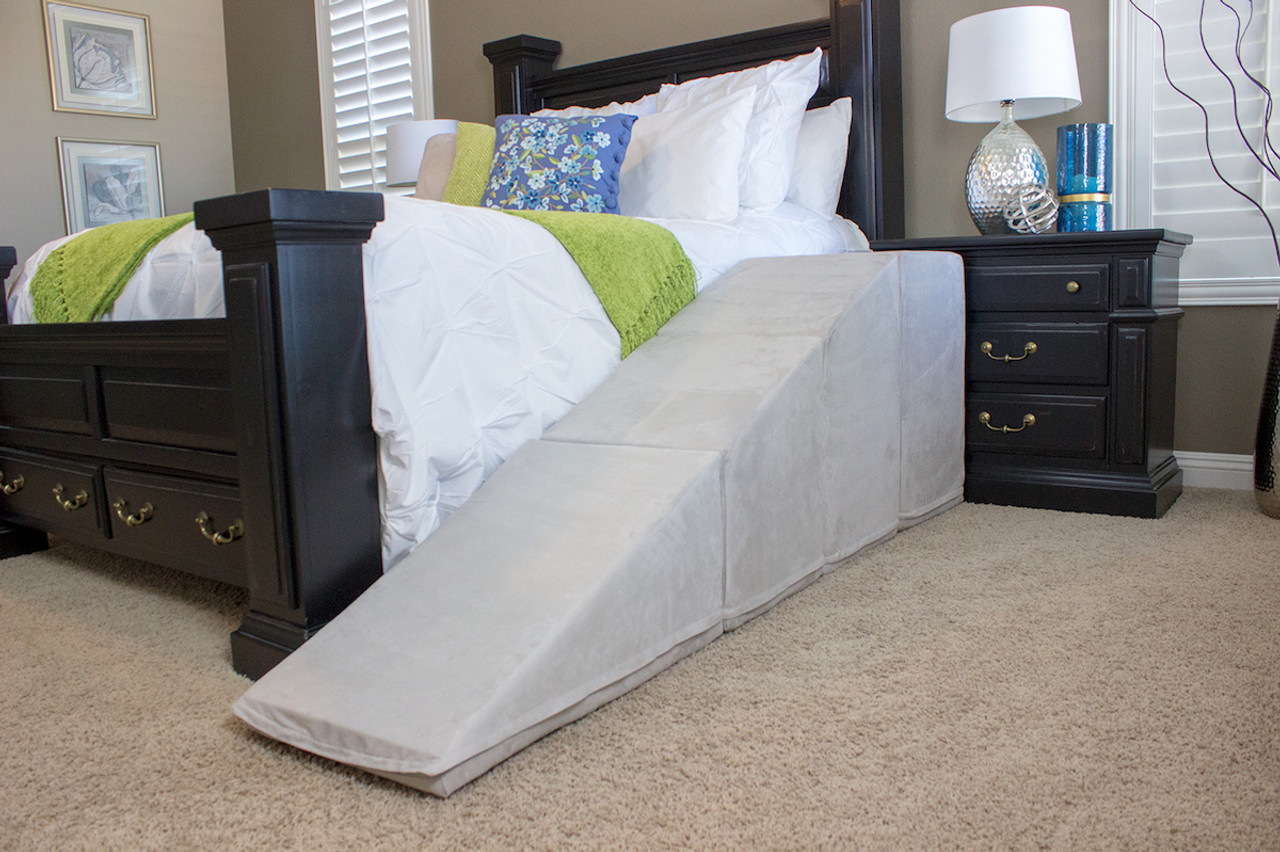 Dog Ramp For Bed >> Extra Tall Dog Ramp With Landing For Beds 28 Tall Puppy Stairs