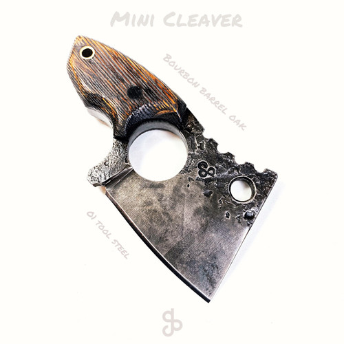 Mini Cleaver - bourbon barrel oak