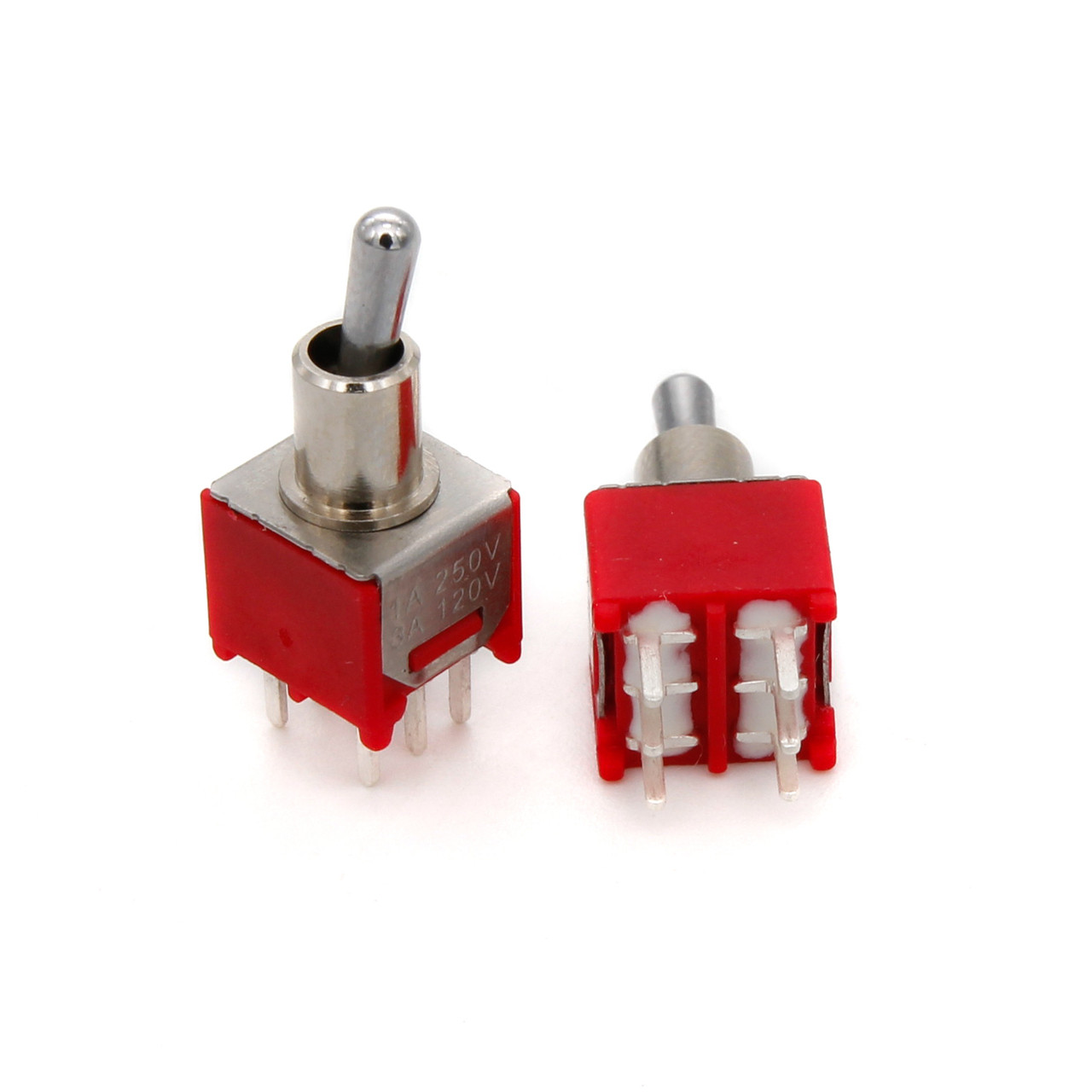 DPDT Sub Mini Toggle Switch - ON/ON/ON - PCB Mount