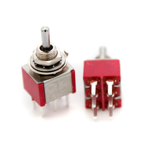 DPDT Toggle Switch ON/OFF/ON - PCB Pin - Short Bat