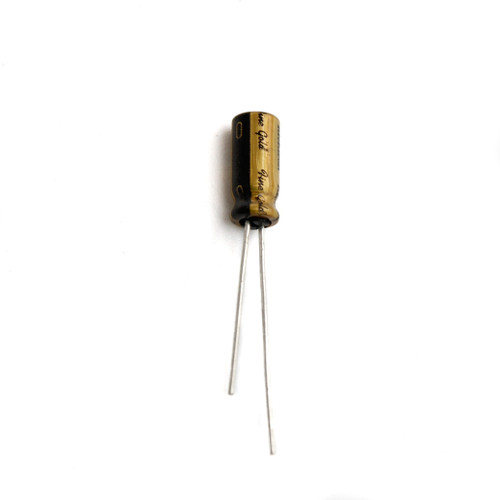 "Aluminum Electrolytic Capacitor - Audio Grade ""Fine Gold"" - Bag of 10"