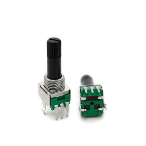 "9mm ""Snap-In"" Potentiometer - Long Knurled Shaft"
