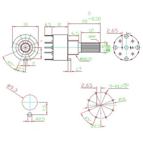 1P8T Mini Rotary Switch