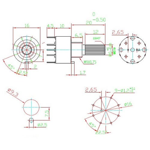 2P4T Mini Rotary Switch