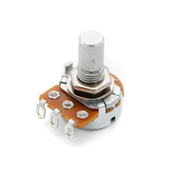 16mm Potentiometer - Smooth Shaft - Solder Lug