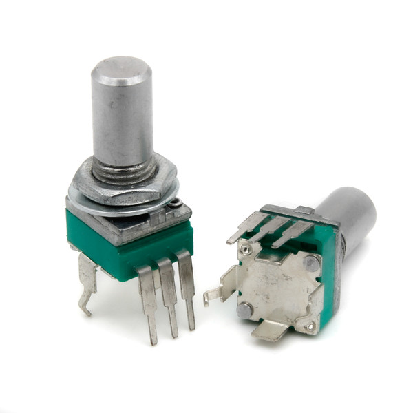 "9mm ""Snap-In"" Potentiometer - Smooth Shaft"