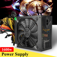 1600W Mining Power Supply Machine For 6 GPU Eth BTC Rig Ethereum Coin Miner