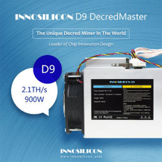 Innosilicon D9 Decred Master 2.4TH/s Miner + 1800W Power Supply 90+ Gold - NEW