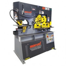 71 Ton - 12″ Throat - 7.5HP, 220V, 3PH Motor Dual Cylinder Complete Integrated Ironworker