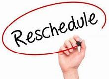 Reschedule Processing Fee