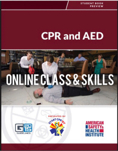 ASHI CPR AED Online & (Skills in Person)