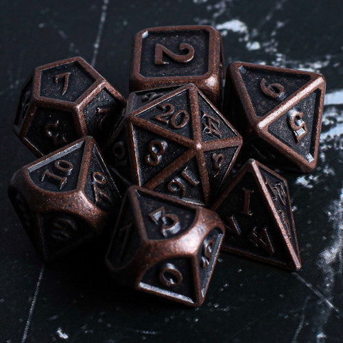 Soul of the Earth Metal DnD Dice Set