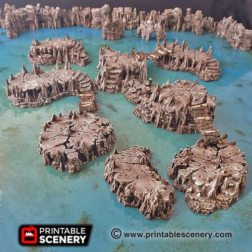 Goblin Grotto Raised Caverns DnD Terrain