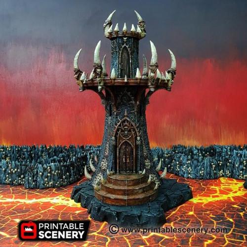 Demon Infernal Tower DnD Terrain
