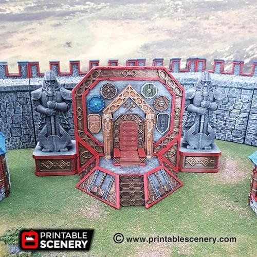 Dwarf Dwarven Ironhelm Throne DnD Terrain