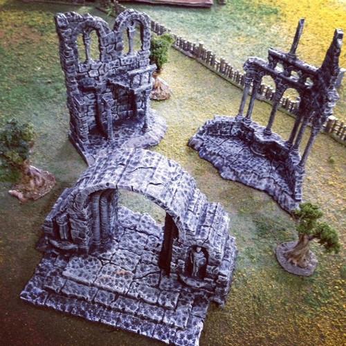 All Three Roman Ruins DnD Terrain