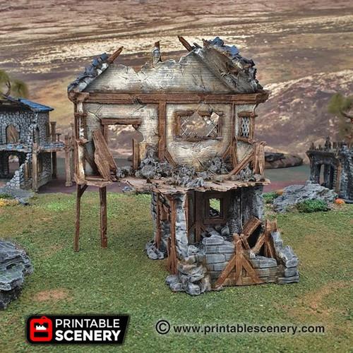 Winterdale Ruined Townhouse DnD Terrain