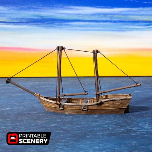 Skiff Ship DnD Terrain