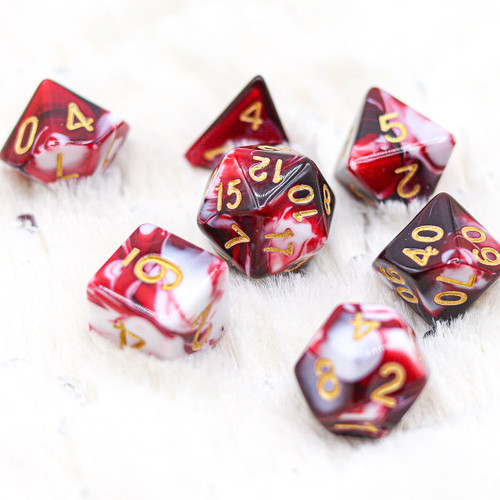 The Demon Blood Stone DnD Dice