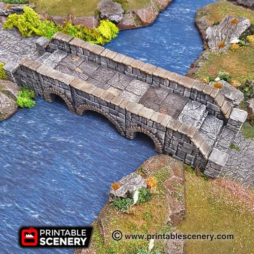 Heavy Stone Bridge Tile DnD Terrain
