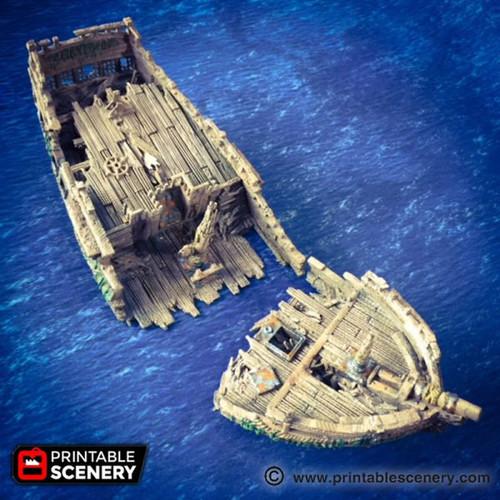 The Wreck Ship DnD Terrain