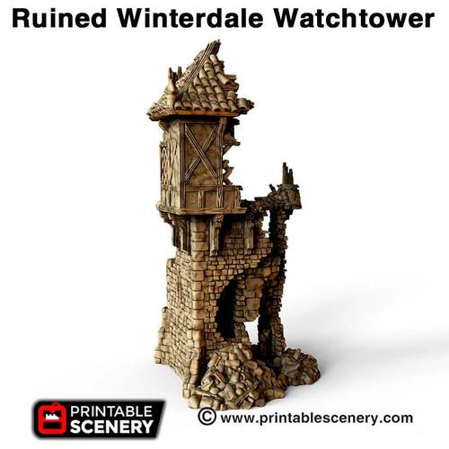 Ruined Winterdale Watchtower DnD Terrain
