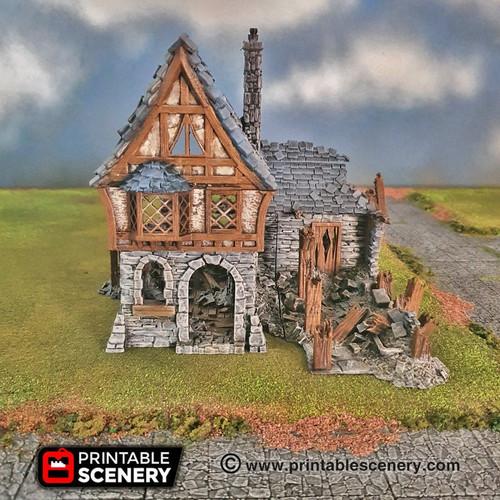 Ruined Winterdale Tavern DnD Terrain