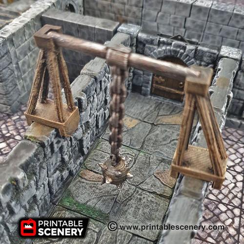Swinging Trap Spiked Mace Tile DnD Terrain