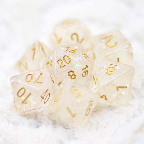 Cloud of Yellow Star DnD Dice
