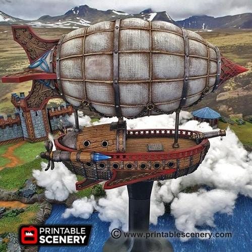 Dwarf Dwarven Air Ship DnD Terrain