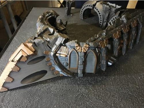 Massive Modular Warhammer Gothic Spaceship Wreck Complete DnD Terrain