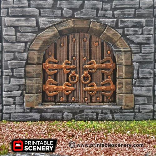 Castle Door Tile DnD Terrain