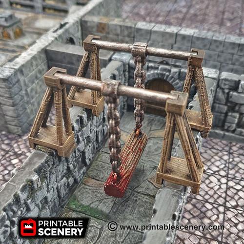 Swinging Trap Log of Doom Tile  DnD Terrain