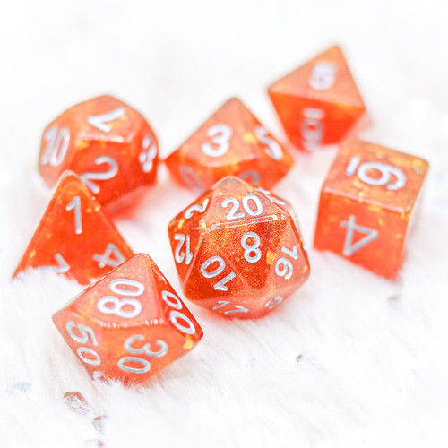 The Spell of Orange Flame DnD Dice