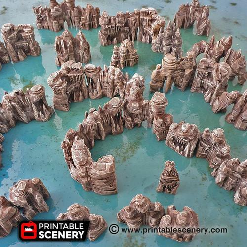 Clorehaven Goblin Grotto Walls DnD Terrain