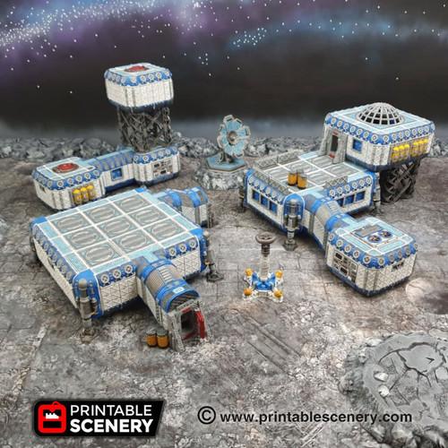 Full Sanctuary Moon Base DnD Terrain
