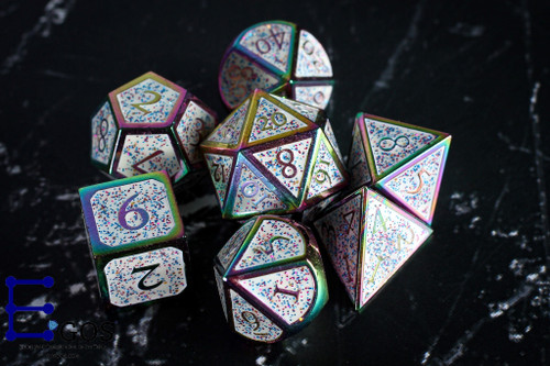Sparkle of Magic Metal DnD Dice