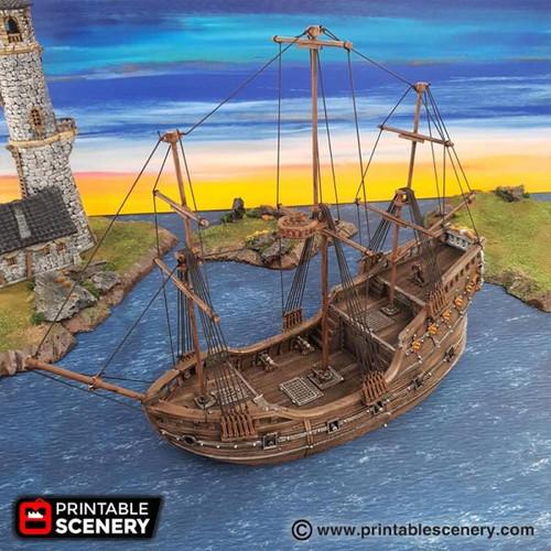 The Fluyt Ship DnD Terrain