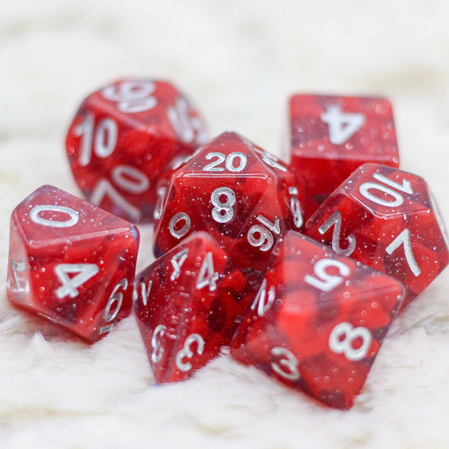 Coral of Demon Blood DnD Dice