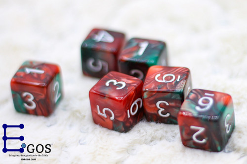 Poisonous of Red Muse D6 Only DnD Dice