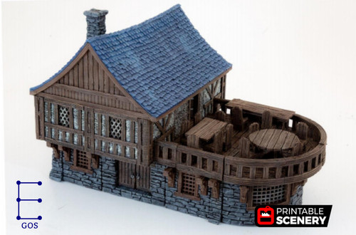 Clorehaven Tavern Modular Tiles DnD Terrain