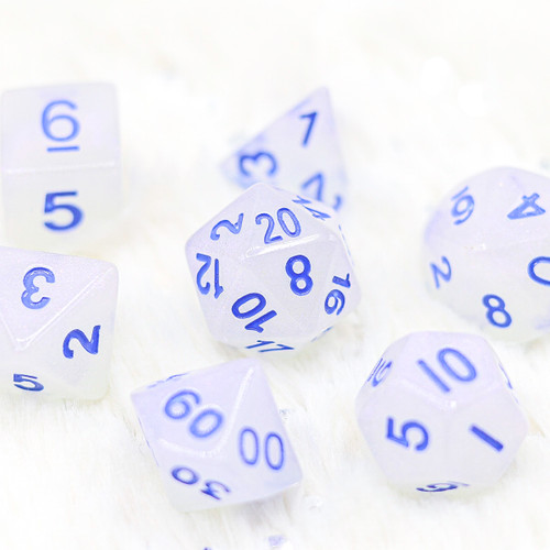 The Snow of Winter DnD Dice