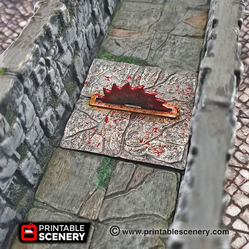 Deadly Saw Trap Tile DnD Terrain