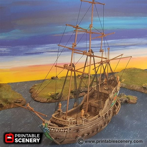 The Galleon Ship DnD Terrain