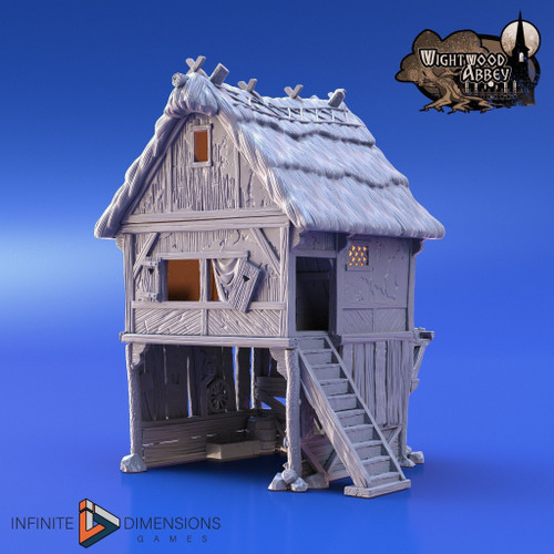 Wightwood Abbey Thatched Storehouse DnD Terrain