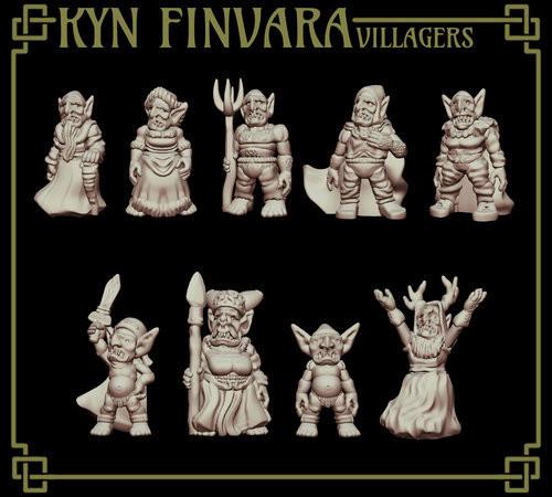 Goblin Villager DnD Miniature