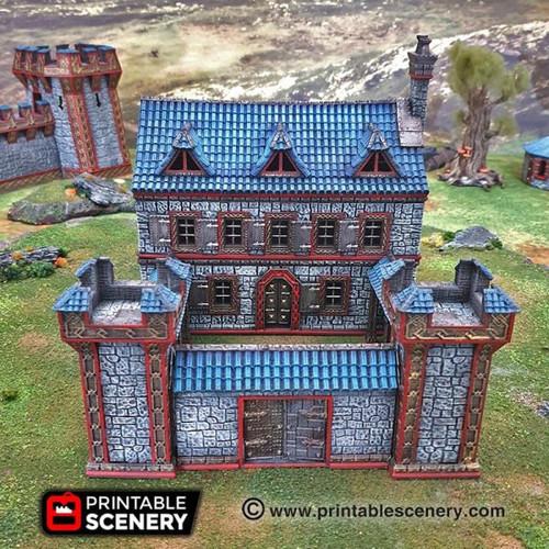 Dwarf Dwarven Ironhelm Barracks DnD Terrain