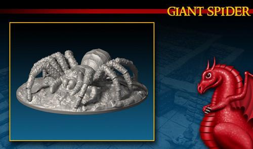 Giant Spider DnD Miniature