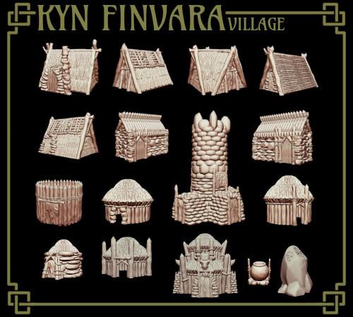 Full Goblin Village DnD Terrain